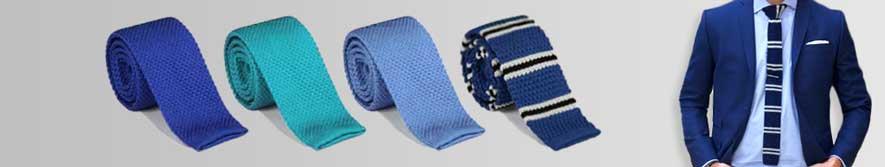 goedkope blauwe gebreide stropdassen