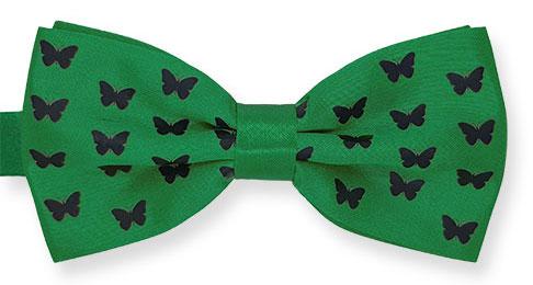 vlinderstrik all over met eigen logo