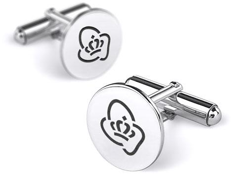 gepersonaliseerde manchetknopen met logo