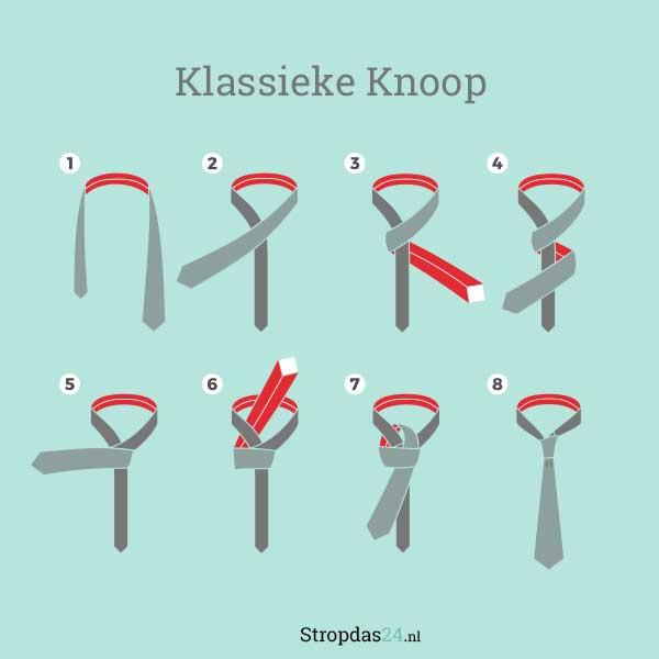 Klassieke stropdasknoop
