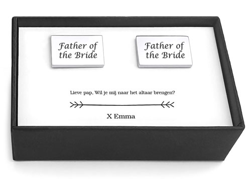 manchetknopen father of the bride bruiloft