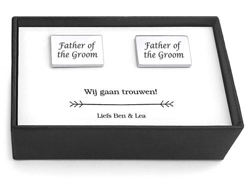 manchetknopen father of the groom huwelijk