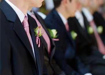 stropdas rosé goud bruiloftthema