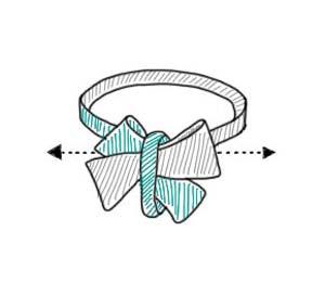 vlinderdas strikken knoop