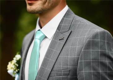 stropdas mint bruiloftthema