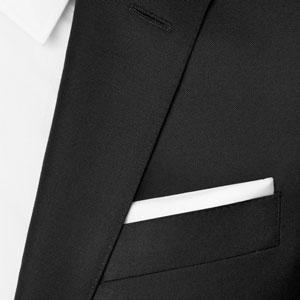 pochet wit voor tuxedo