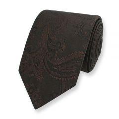 stropdas paisley bruin zijde