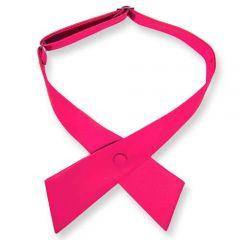 dames stropdas strik neon roze