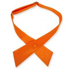 dames stropdas strik oranje