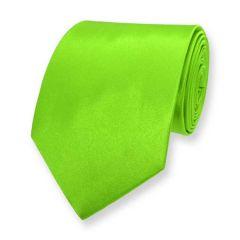 stropdas neon groen effen