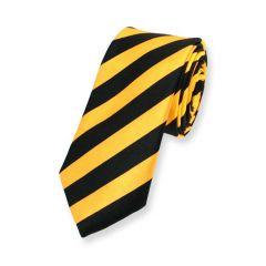 stropdas geel zwart gestreept