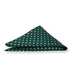 groene pochet witte stippen