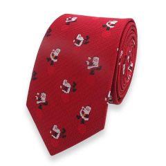 kerstman stropdas donkerrood