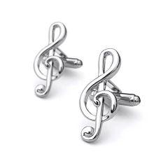 manchetknopen muziek g-sleutel
