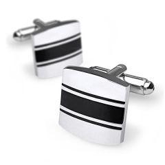 manchetknopen zilver zwart