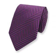 stropdas paars zwart motief