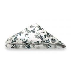 pochet wit grijs bloemenprint