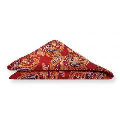 pochet rood paisley