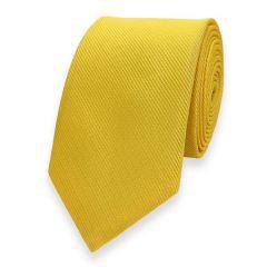 smalle stropdas geel fine line