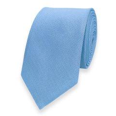 smalle stropdas lichtblauw fine line
