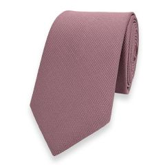 smalle stropdas rosé goud fine line