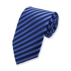 stropdas strepen blauw donkerblauw