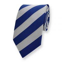 stropdas blauw grijs gestreept