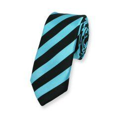 stropdas strepen blauw zwart smal