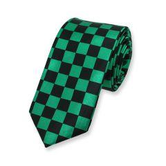 geruite stropdas groen zwart chess