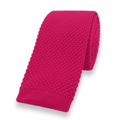 gebreide stropdas fel roze effen