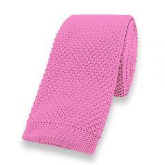 gebreide stropdas roze effen
