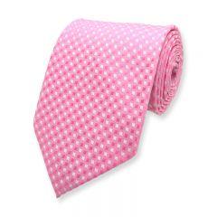 stropdas geruit roze wit