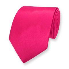 stropdas fel roze effen