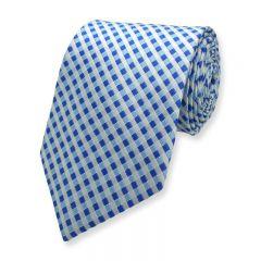 stropdas geruit blauw wit