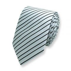 stropdas lichtgrijs zwart zijde