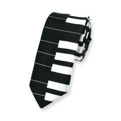 piano stropdas zwart wit smal