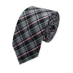 stropdas roze grijs geruit