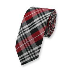 stropdas rood zwart wit geruit
