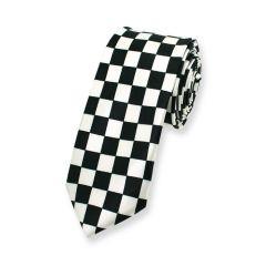 stropdas ruit zwart wit smal