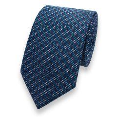 stropdas turquoise blauw strepen