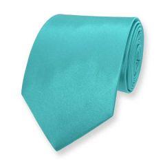 stropdas turquoise effen