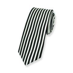 stropdas verticale strepen zwart wit smal
