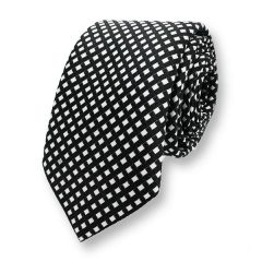 stropdas zwart wit geruit