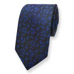 stropdas zwart blauw bloemen