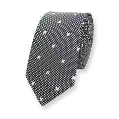 stropdas met zwart wit motief