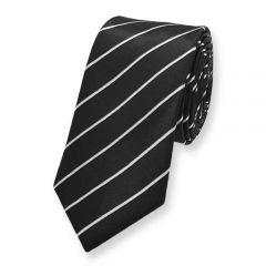 stropdas zwart wit schuin gestreept