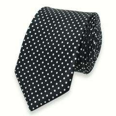 stropdas stippen zwart wit smal