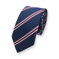stropdas donkerblauw rode strepen