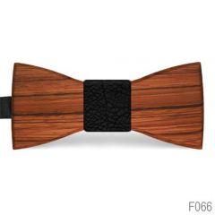 houten vlinderdas f066