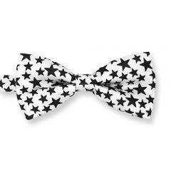 vlinderstrik wit zwart sterren